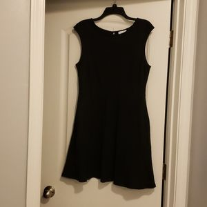 New york and company black dress with pockets